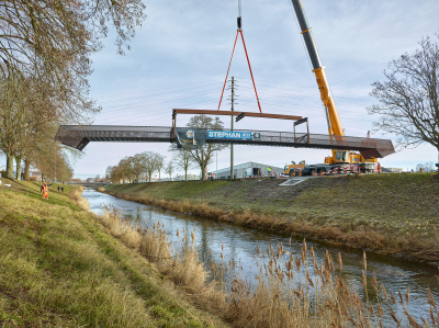 Pedestrian footbridge Broye, construction - kleine Darstellung